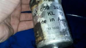 old fuel filter